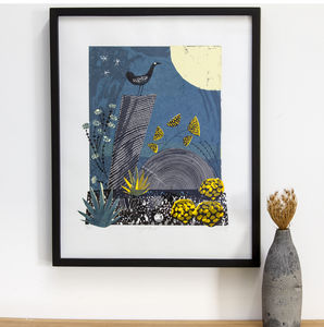 Night Bird Limited Edition Silkscreen Print