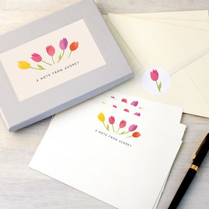 Personalised Tulips Writing Set
