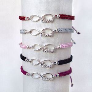 Silver Inifinty Love Friendship Bracelet