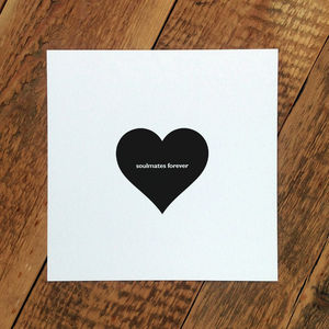 Wedding Card; 'Soulmates Forever' - shop by occasion