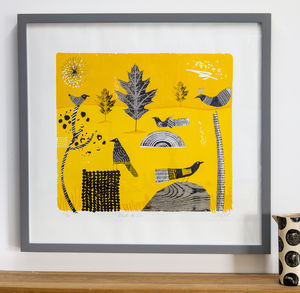 Under The Sun Limited Edition Silkscreen Print - animals & wildlife