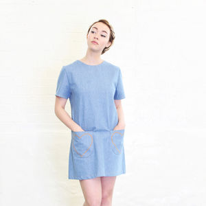Margot Denim Shift Dress - dresses