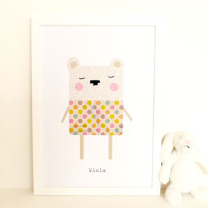 Polar Bear Art Print 'Viola' - shop by price