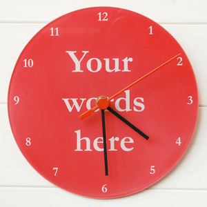 Your Words Clock - bedroom