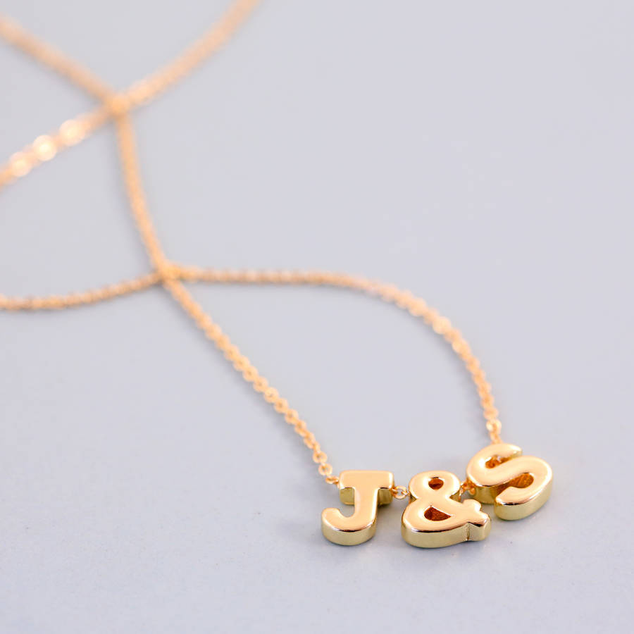 letter yellowgold zoe asymmetrical side jewelry lev chic initial necklace gold