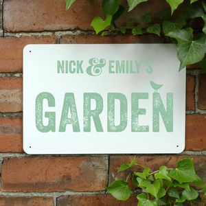 Personalised Garden Metal Sign - shop by price