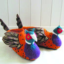 Adult Freddie The Pheasant Slippers