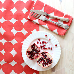 Red Pebble Table Runner - dining room