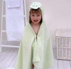 Personalised Crocodile Children's Hooded Towel
