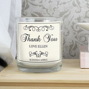 Thank You Personalised Jar Candle - dining room