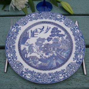 Willow Plate Industrial Farming And Over Fishing