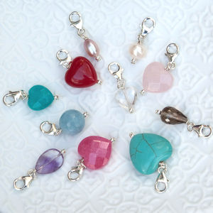 Semi Precious Stone And Pearl Charms - more