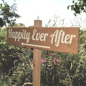Country Wedding Sign And Stake
