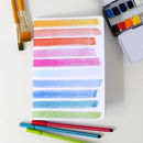 Striped Watercolour Notebook