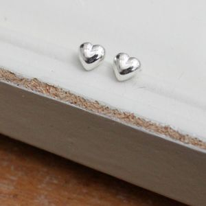 Sterling Silver Heart Earrings - wedding fashion