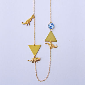 Dinosaur Triangle Necklace