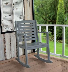Rocking Carver Chair In Dove Grey - garden furniture