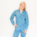 Women's Pyjama Set In Ditzy Isabel Cobalt Print