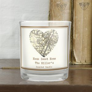 1896 To 1904 Revised New Map Heart Scented Jar Candle