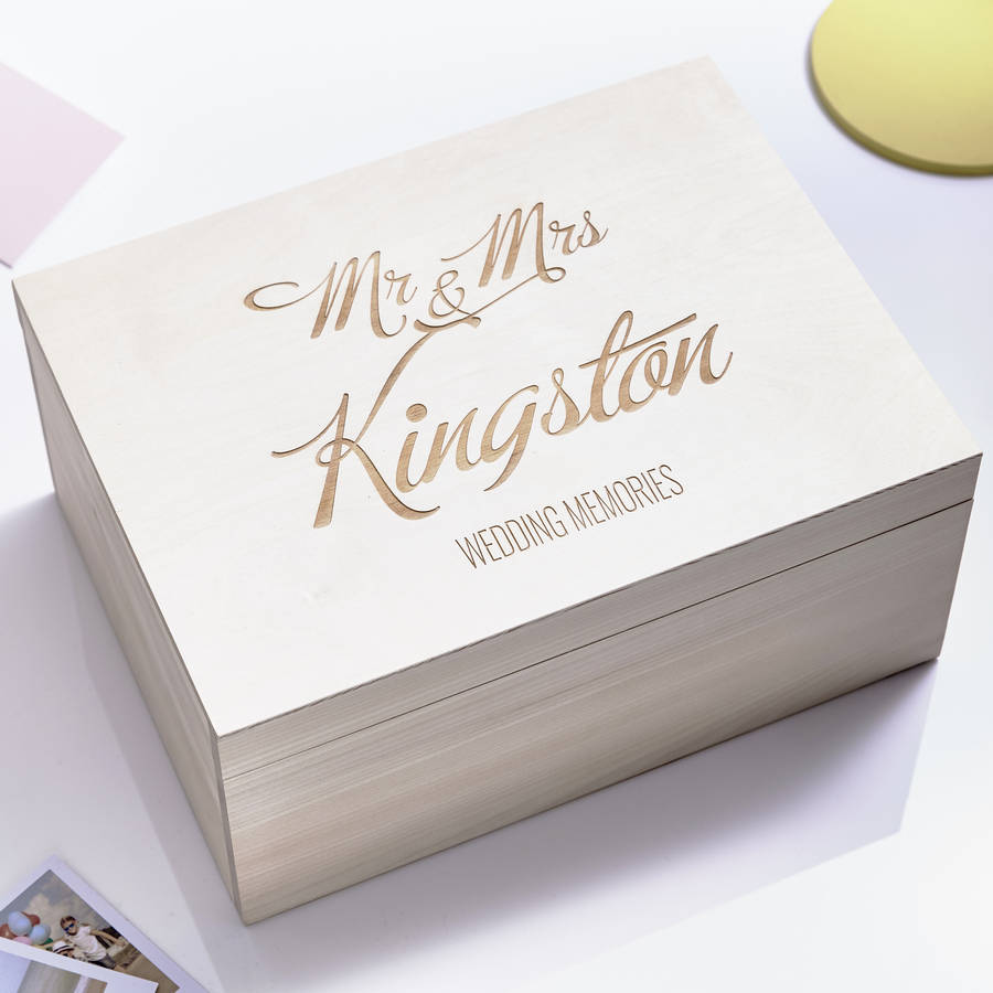 Elegant Personalised Wedding Keepsake Box By Sophia