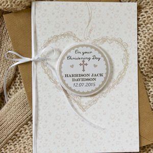 Large Personalised Magnet Christening/Baptism Card - christening cards