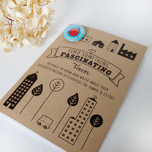 'Find Something Fascinating' Town Notebook - party bags and ideas
