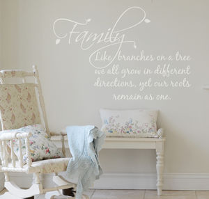 'Family' Wall Sticker - sale by category
