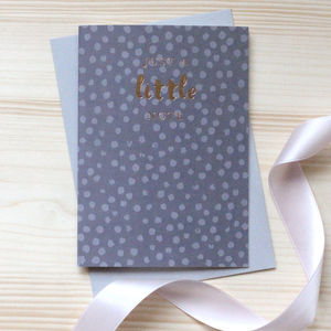 Grey Polka 'A Little Note' Gold Foil Notecard Set