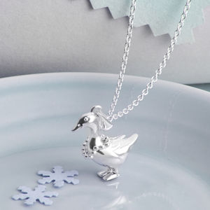 Sterling Silver Duck Necklace - necklaces