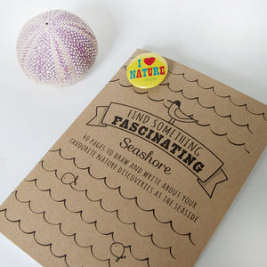 'Find Something Fascinating' Seashore Notebook - children's parties