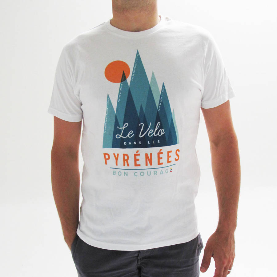 Tour De France In The Mountains Homage Cycling T Shirt by Bon Courage