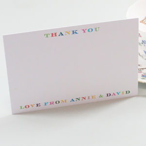 Personalised Classic Thank You Cards - thank you cards