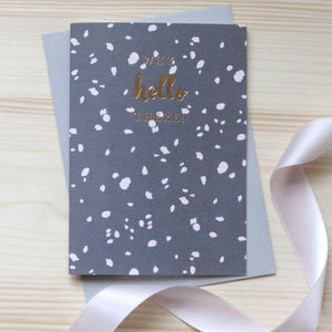 'Why Hello There' Gold Foil Notecard Set