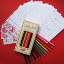 Colouring Cards, Stickers And Pencils For Girls