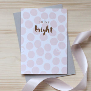 'Shine Bright' Gold Foil Notecard Set