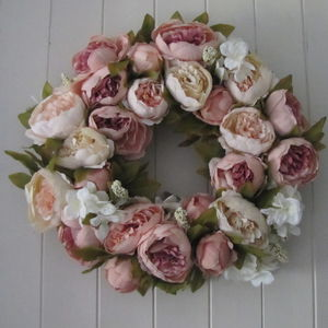 Handmade Silk Flower Wreath