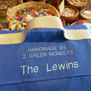 Waterproof picnic blanket personalisation