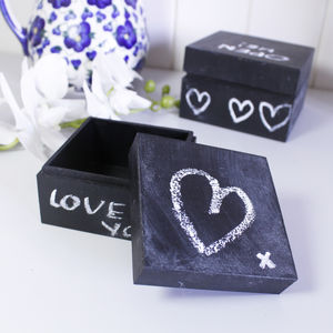 Personalised Blackboard Trinket Box - cards & wrap