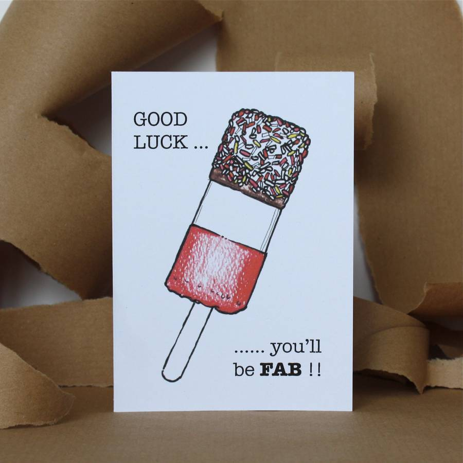 card making ideas good luck