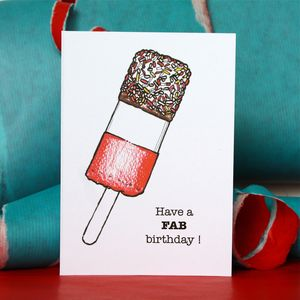 Fab Lolly Birthday Card - summer sale
