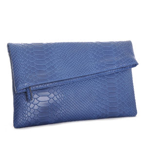 Oceano Textured Leather Envelope Clutch - clutch bags
