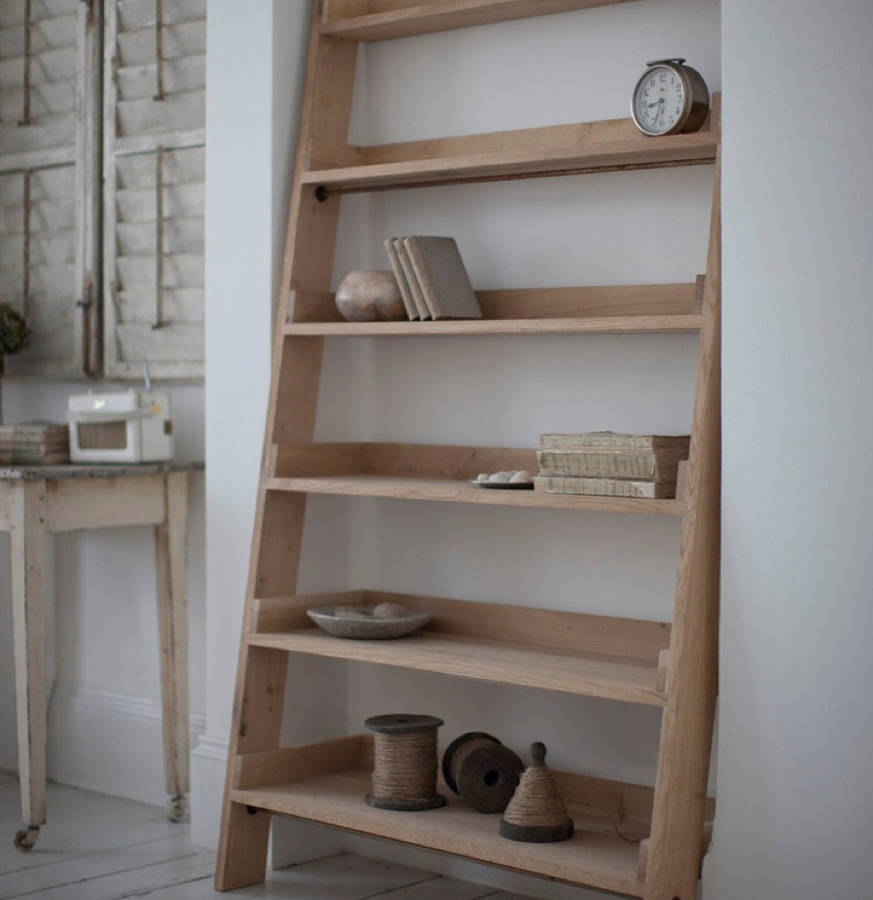 Large Raw Oak Shelf Ladder By All Things Brighton