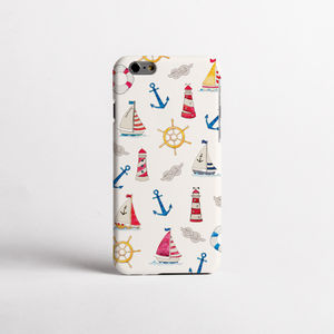 Summer Boats Print Phone Case