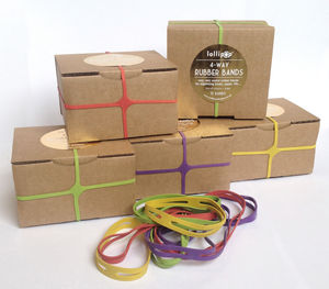 Four Way Rubber Bands - summer sale