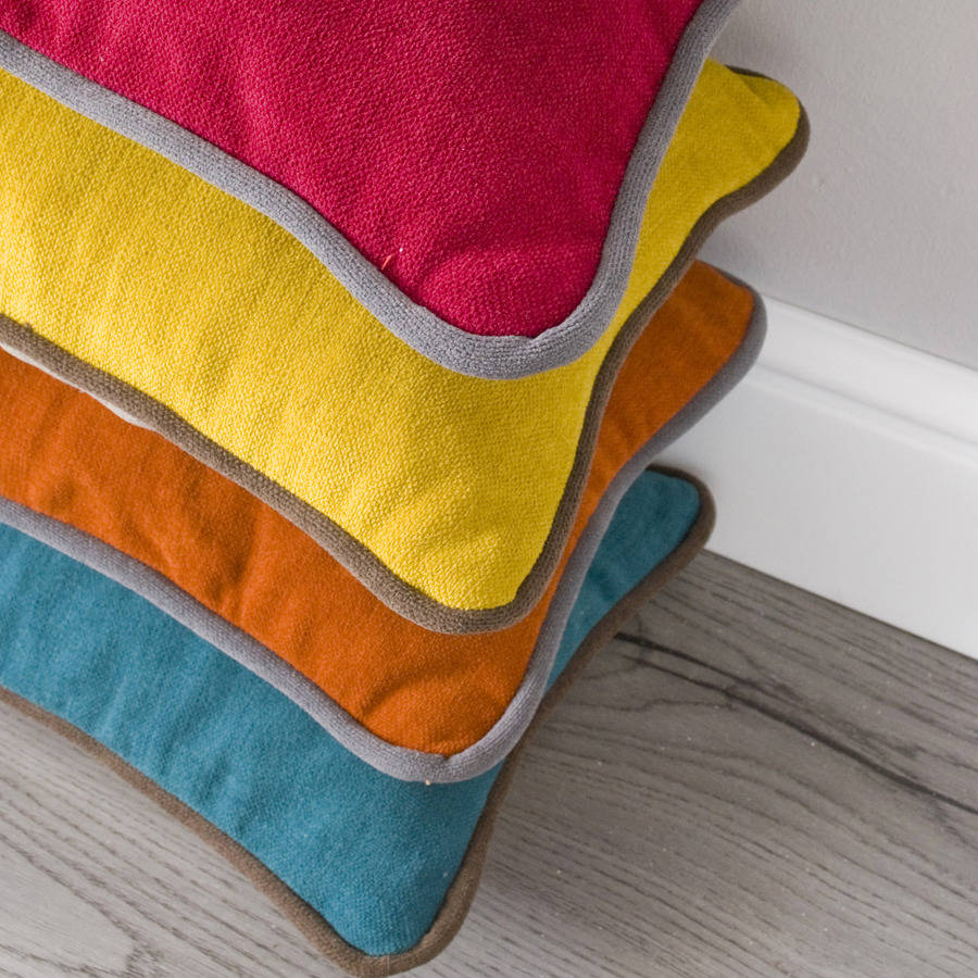 Piped Edge Treecolour Cushion By Modoo Home