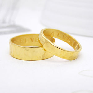 Personalised Gold His And Hers Rings