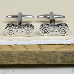 Bicycle Chain Link Cufflinks