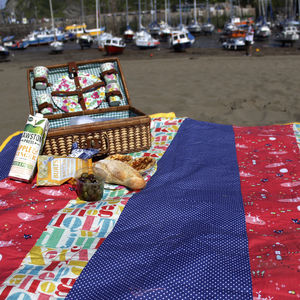 Waterproof Picnic Blanket Foxes - personalised