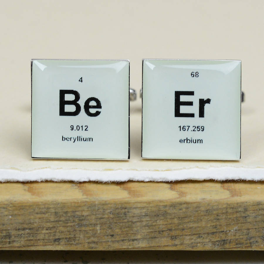 Periodic table cufflinks by bobby rocks notonthehighstreet periodic table cufflinks urtaz Images