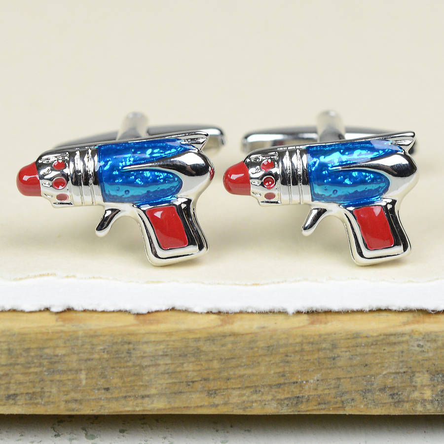 Gallery Rayguns And Robots Will Zap Your Eyes With Retro: Retro Robot And Ray Gun Cufflinks By Bobby Rocks